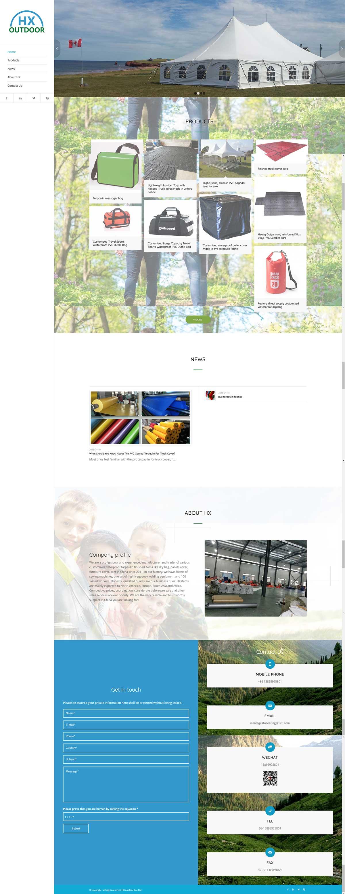 Wordpress户外用品主题模板