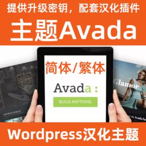 Wordpress主题avada 中文简体繁体汉化下载