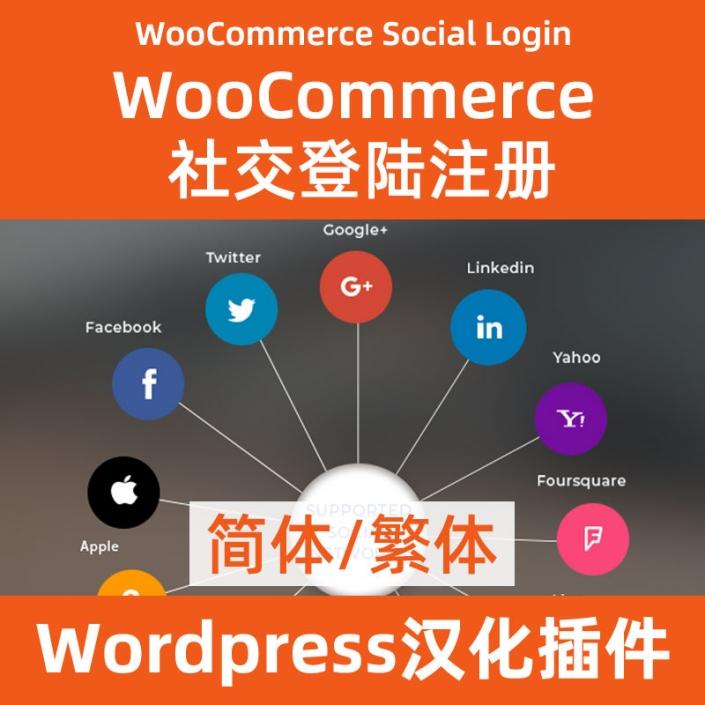 WooCommerce Social Login社交登陆简体繁体下载